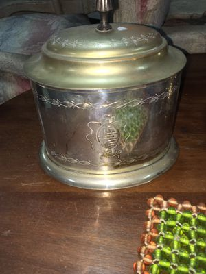 Etched silver plate covered jar for Sale in Whittier, CA