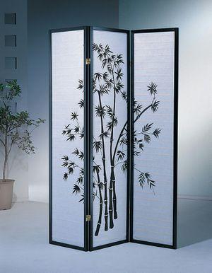 3 Panel Room Divider / Shoji Screen, Black for Sale in Garden Grove, CA