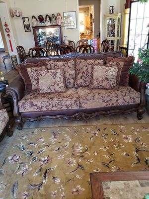 Beautiful Leather/Cloth Couch for Sale for Sale in Surprise, AZ
