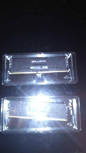 Ballistix ram ddr4 2x4 GB 3000 memory speed. for Sale in West Valley City, UT