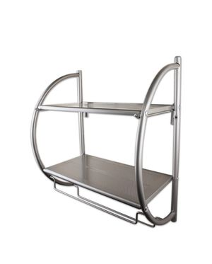 Wall Mount 2-Tier Satin Nickel Shelving Unit for Sale in Plano, TX