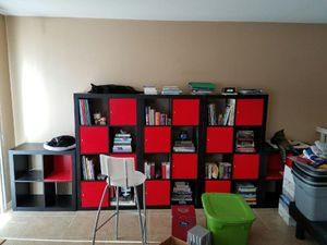 3 Black IKEA 8 Cube Bookshelves! for Sale in Las Vegas, NV