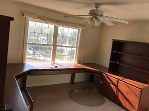 Cherry wood custom office/study desk with bookcases for Sale in Parlin, NJ