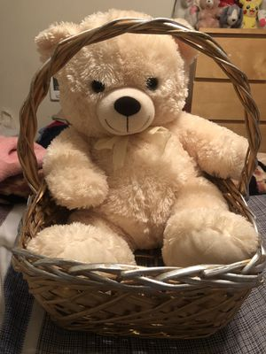 Teddy's bear with bucket for Sale in Long Beach, CA
