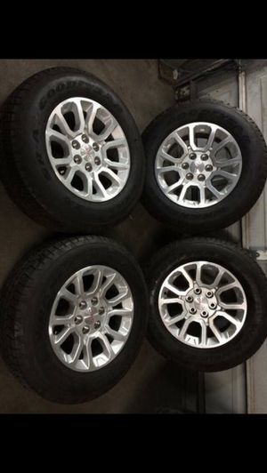 Like new GMC / Chevy Honey Comb Rims And Tires 6 Lug Wheels Rines y Llantas Take offs off takeoffs pull pulloffs stock stocks factory original origi for Sale in Dallas, TX