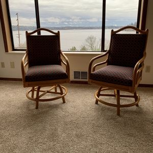 4 Vintage Bamboo Swivel Chairs for Sale in Issaquah, WA