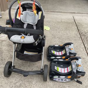 Chicco KeyFit 30 Car seat/ Stroller System With 2 Bases for Sale in Marietta, GA