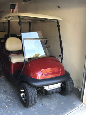 Golf cart, candy apple red, mint condition, brand new batteries for Sale in Plant City, FL