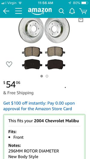 Rotors and pads for 2004 Chevy Malibu LS for Sale in Kissimmee, FL