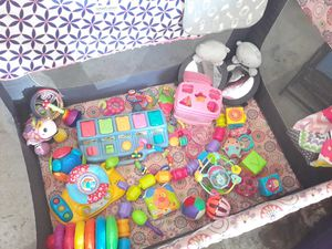 Baby Playpen, Toys & Pampers Splashers diapers for Sale in Fort Worth, TX