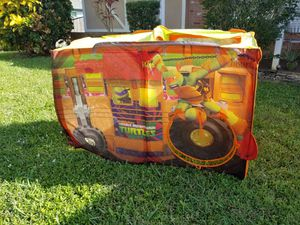 Tents : Ninja Turtles tent & Camper tent Both fold easily for storage Easily pops up for instant fun!! for Sale in Lake Worth, FL