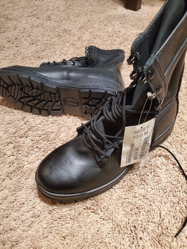 Black Leather, Steel-Toed work boots