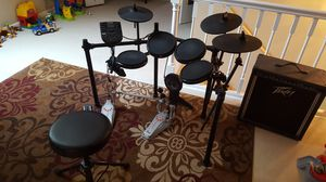 Alesis Drum kit + Pearl Dbl Bass + Peavy KB60 Amp for Sale in Dunlap, IL