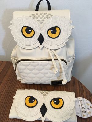 Harry Potter Hedwig Mini backpack and wallet for Sale in Dryden, NY