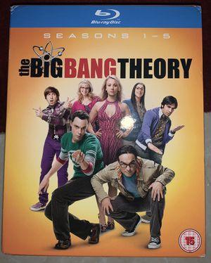 Big Bang Theory series season 1-5 blu bray for Sale in Orlando, FL