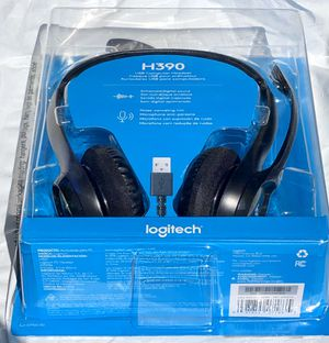 **Brand New** Logitech USB Headset H390 with Noise Cancelling Mic for Sale in La Palma, CA