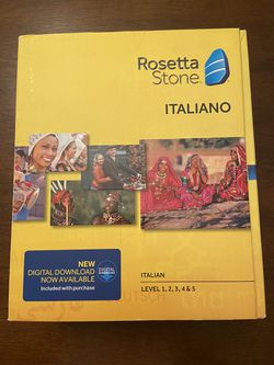 Rosetta Stone Italian for Sale in St. Petersburg,  FL