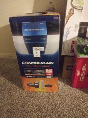 Chamberlain 1.25-HP Corner to Corner Lighting Belt Drive Garage Door Opener Works with MyQ and Built-In WiFi LED Light for Sale in Las Vegas, NV