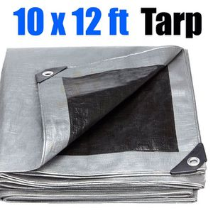(NEW) $15 Heavy Duty 10x12ft Tarp 10mil Thickness Canopy Reinforced Tent Car Boat Cover Tarpaulin for Sale in South El Monte, CA