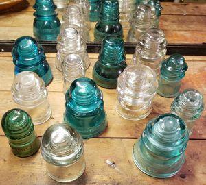 14 antique glass insulators for Sale in Granite City, IL