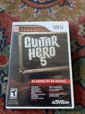 Guitar hero 5 wii for Sale in Redwood City, CA