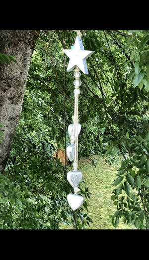Wooden Star & Hearts Long Beaded Twine String Sun Catcher Garden Patio Decor for Sale in Nashville, TN