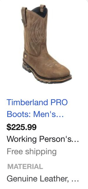 Timberland steel toe work boots 🥾 Size 11 for Sale in Patterson, CA