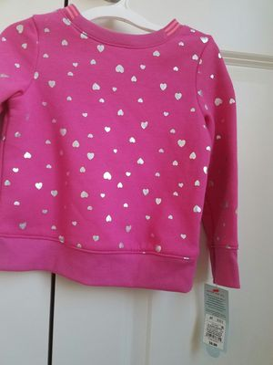 New with tags Cat and Jack Valentines pink with silver heart fleece top 3T - $5 for Sale in Rockville, MD
