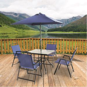 Patio set good condition. Umbrella is sun faded. Paid 120. $60. for Sale in Minot, ND