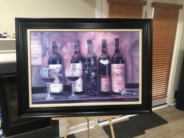wine cellar acrylic on board