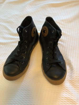 Black Leather Converse All Star Chuck Taylor Sz 2 for Sale in Largo, FL