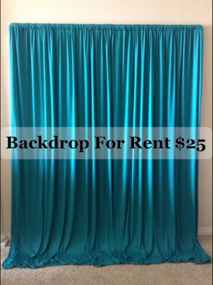 TURQUOISE BACKDROP ...BIRTHDAY PARTY, BABY SHOWER, QUINCEAÑERA, WEDDING... for Sale in Chula Vista, CA