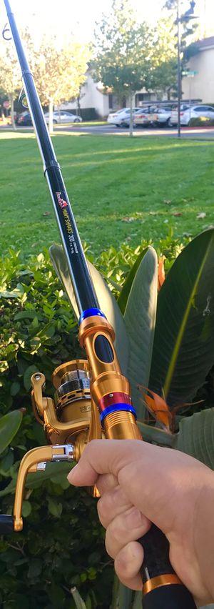 Brand New METALLIC ORANGE Ultra Strength Adjustable Ocean Fishing Rod for Sale in Riverside, CA