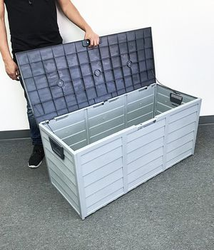 """(NEW) $45 each Plastic Storage Box 70 Gallon Outdoor Durable Plastic Shed Waterproof 44""""x19""""x21"""" for Sale in Pico Rivera, CA"""