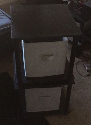 End Tables with Storage Bins. Pick up. for Sale in Bend, OR