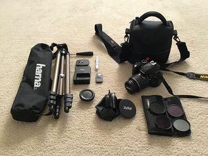 Nikon D3300 DSLR Camera + gear for Sale in Rockville, MD