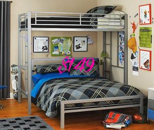 New Silver or Black Twin over Full Bunk bed NO MATTRESSES $149 for Sale in Dallas, TX