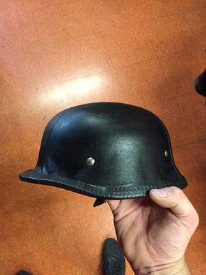 New leather German novelty motorcycle helmet $25 for Sale in Whittier, CA