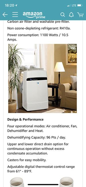Brand new whynter 12000 BTU air conditioner with 1 year warranty for Sale in San Francisco, CA