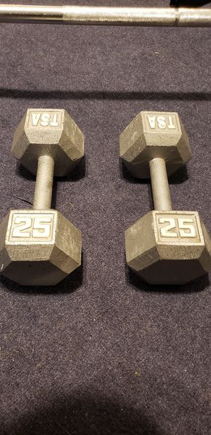 Hex Dumbbells | 25 Pound Set for Sale in Miami, FL