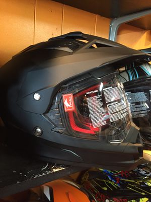 New dual sport adventure off road dirt bike helmet flat black $100 for Sale in Whittier, CA