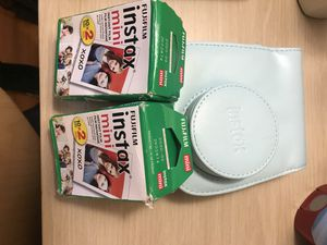 New Instax camera case with 2 double packs of film for Sale in Scottsdale, AZ