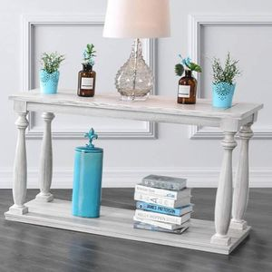 RUSTIC STYLE ANTIQUE WHITE FINISH CONSOLE HALLWAY SOFA TABLE for Sale in Rancho Cucamonga, CA