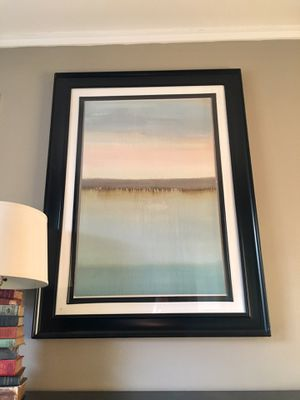 Awesome 48 x 36 Framed Painting Print Abstract Landscape W/ Wire Mount for Sale in Nashville, TN