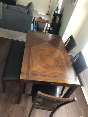 Kitchen Table with 4 Chairs + Bench for Sale in Westerville, OH