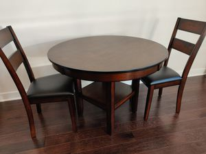 Wood dining table w 2 chairs for Sale in Washington, DC