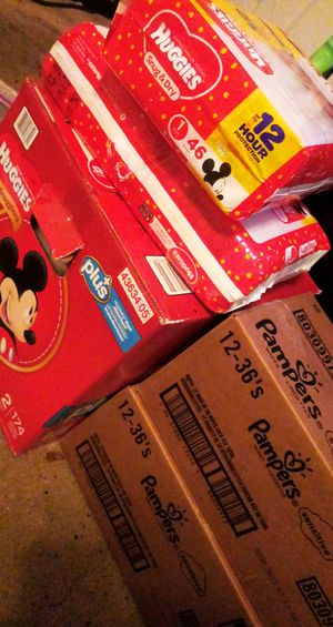 Huggies diapers pampers wipes for Sale in Mobile, AL