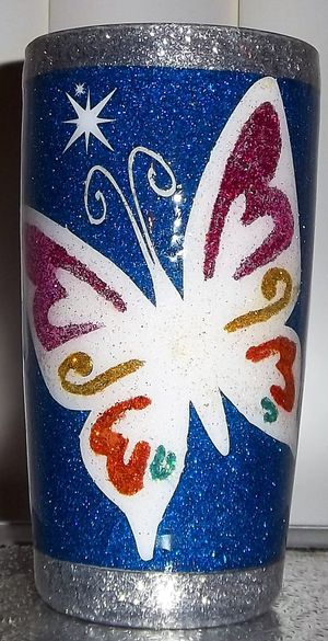 Blue Butterfly Handcrafted Tumbler for Sale in Montpelier, MD