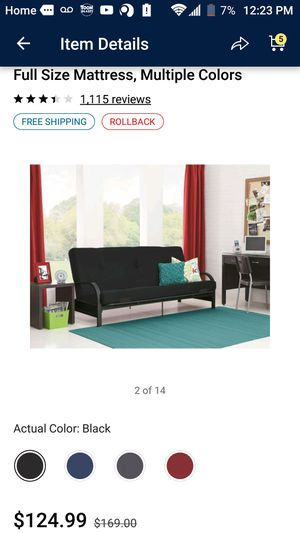 Mainstays Black Futon for Sale in Haines City, FL
