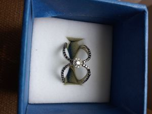 Certified black and white diamond ring for Sale in Detroit, MI